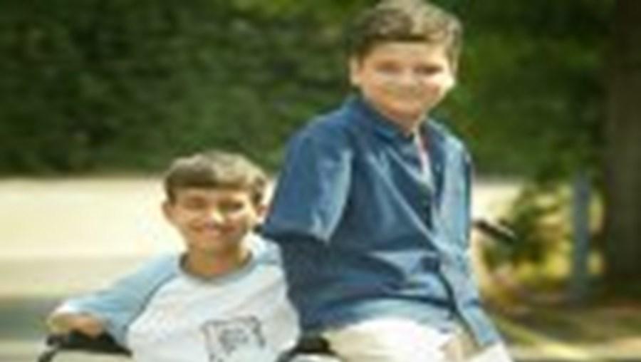 Ali (à direita) e o amigo Ahmed