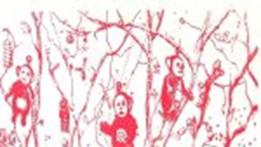 Litografia de Manuel Gantes (2005) patente na capital espanhola