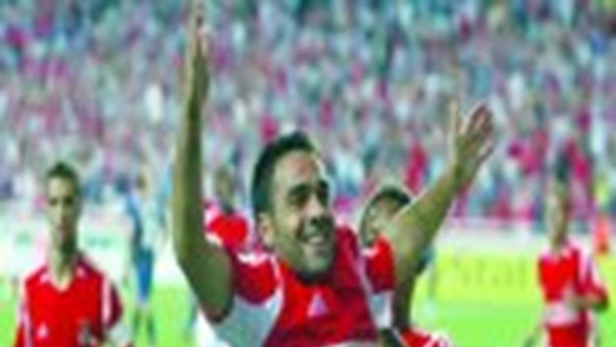 Miccoli foi o autor do decisivo golo da vitória do Benfica sobre o Lille para a Liga dos Campeões