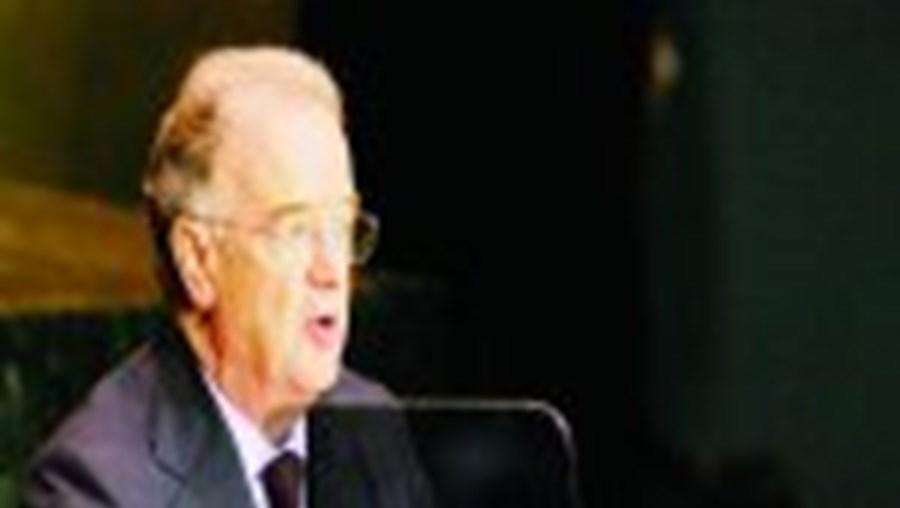 Sampaio durante a alocução perante a Assembleia Geral das Nações Unidas
