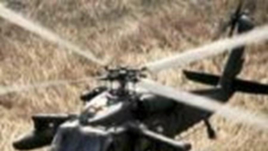 O helicóptero caiu durante um exercício nocturno