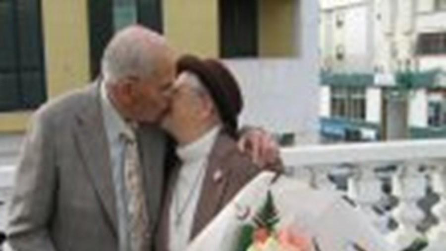 António Jordão e Inácia Correia já eram casados pelo civil desde Setembro. Namoraram dez anos