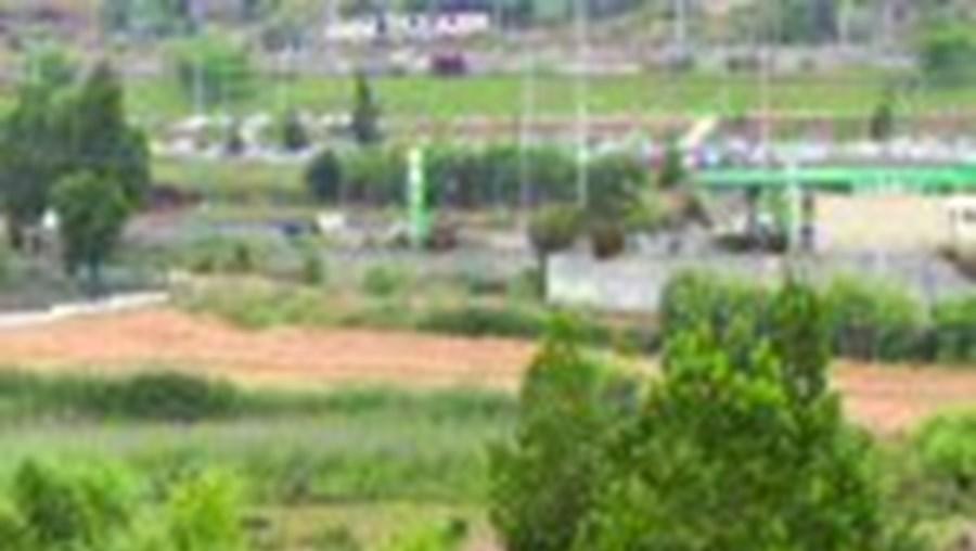 A agressão ocorreu neste descampado, perto do Almada Fórum