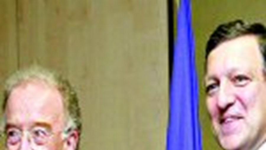 Barroso recebe Sampaio em Bruxelas