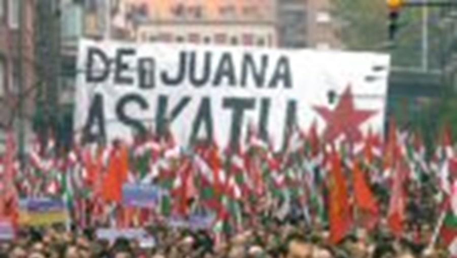 Manif pelo etarra De Juana. A ETA quer o fim das condenações