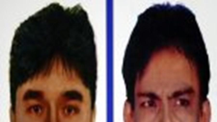 'Retrato-robot' dos dois suspeitos