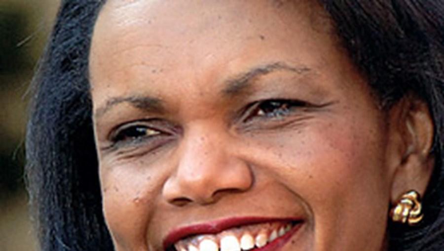 A secretária de Estado norte-americana, Condoleezza Rice