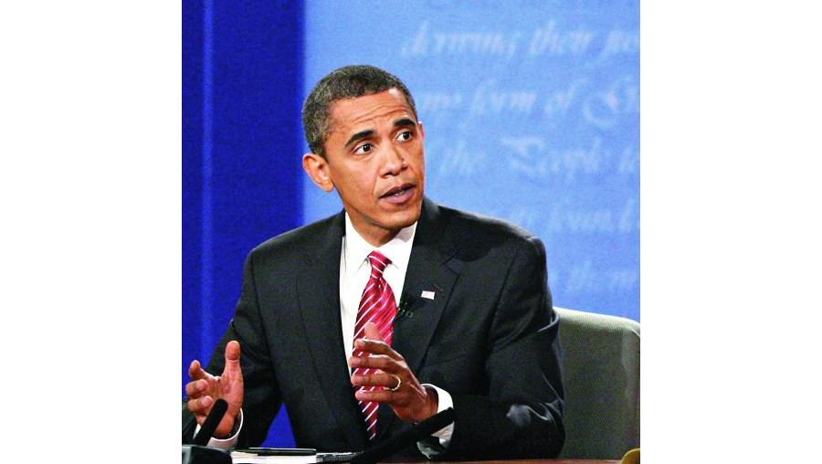 O candidato democrata Barack Obama