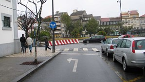 Confusão no trânsito em Braga