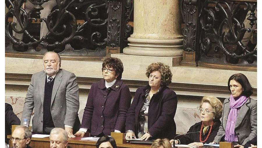 Manuel Alegre, Teresa Portugal, Eugénia Alho e Júlia Caré contra o PS