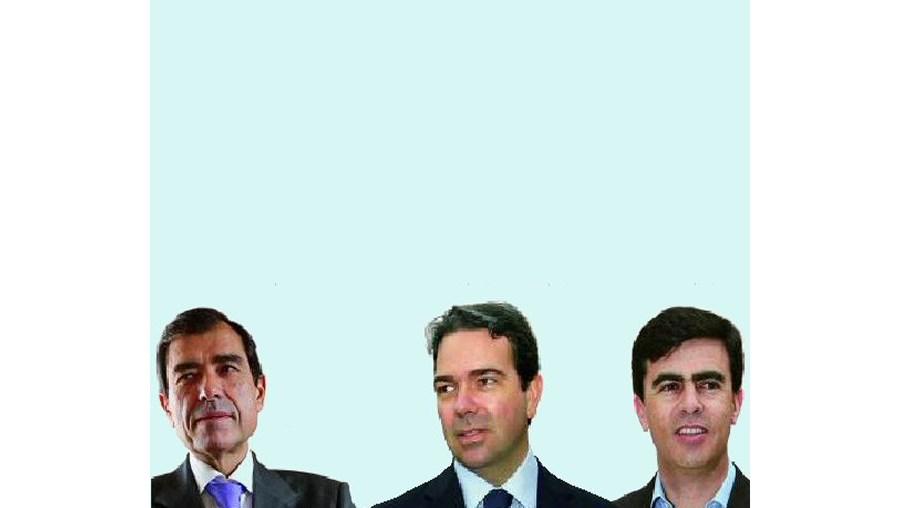 José Eduardo Moniz (TVI), Nuno Santos (SIC) e José Fragoso (RTP1)