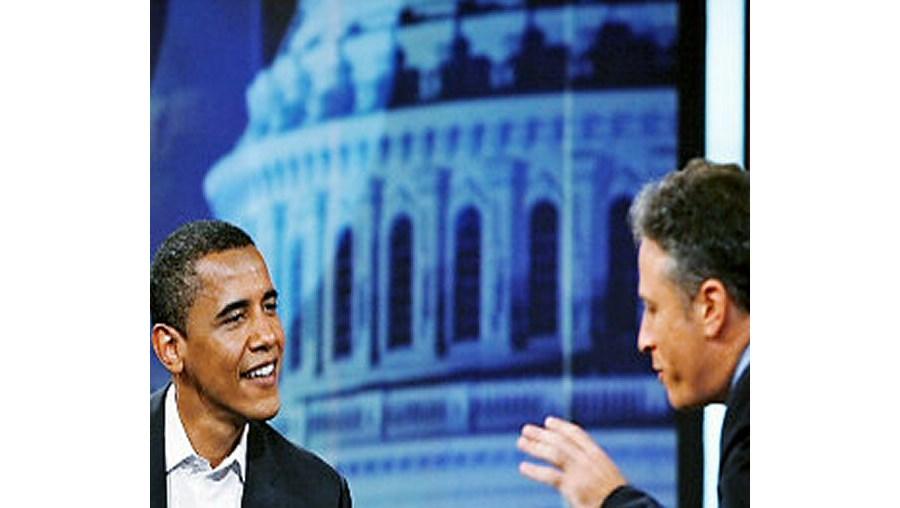 Barack Obama e Jon Stewart