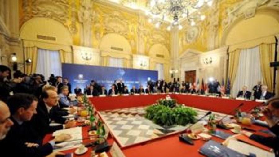 O G7 esteve reunido em Roma, Itália