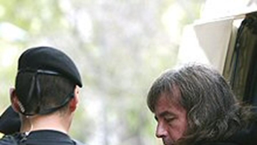 'El Solitário' à chegada ao tribunal da rua Pinheiro Chagas, em Lisboa
