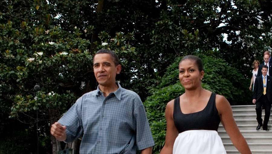 O presidente dos EUA com a mulher, Michelle, no Dia da Independência