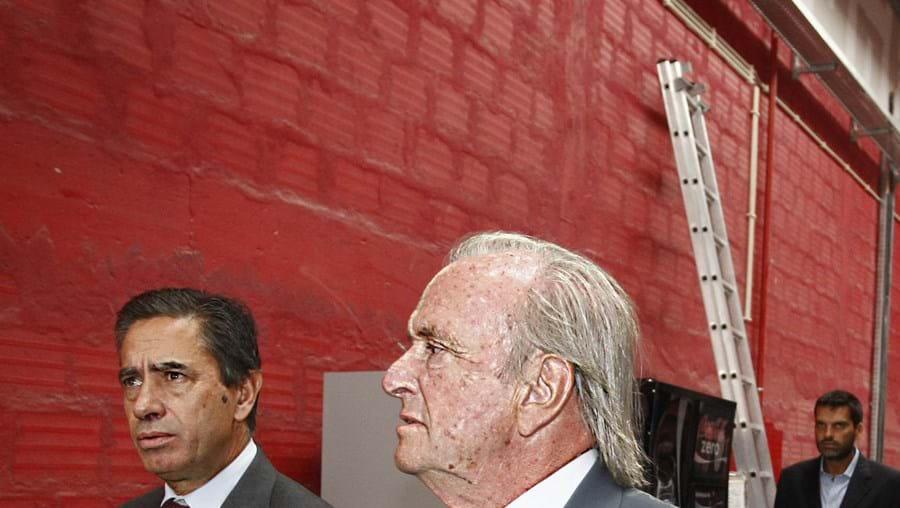 Luís Marques e Pinto Balsemão nos novos estúdios da SIC, Carnaxide