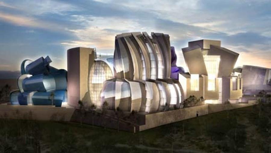 Um detalhe do projecto de Gehry