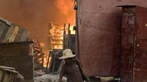 Luz para carregar telemóveis no Haiti
