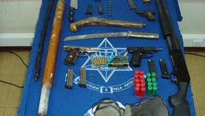 PSP de Lisboa apanha arsenal de armas ilegais