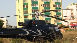 Helicóptero gera alarme