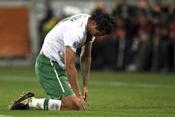 Hugo Almeida também mostrou tristeza com a derrota