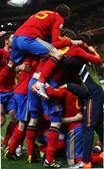 Selecção espanhola festejou a passagem aos quartos-de-final