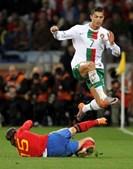 Ronaldo tentou, sem sorte, o ataque em diversas ocasiões