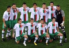 Onze português no início da sua última partida deste Mundial
