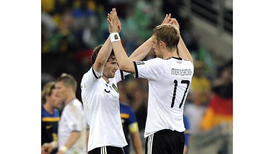 Ao quarto golo, já a Alemanha se sentia vitoriosa