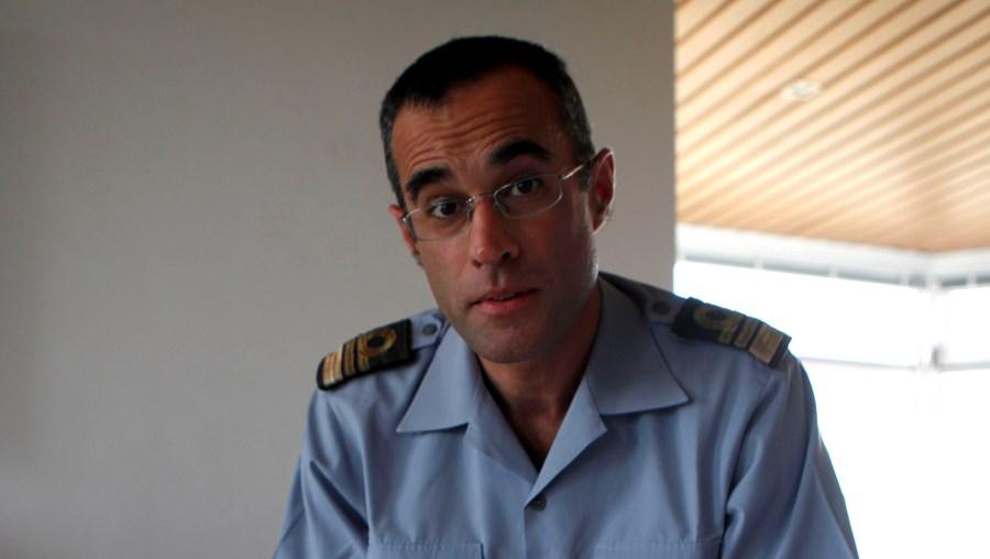 O comandante Coelho Gil