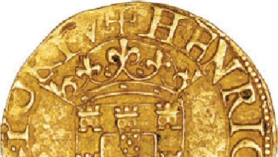 A moeda de 500 reais de 1580