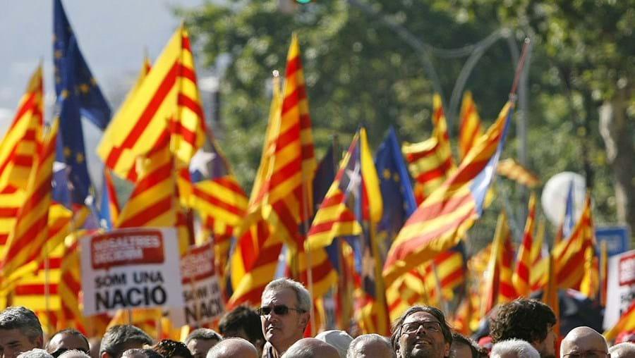 Os históricos Maragall e Pujol ao lado do presidente da Generalitat