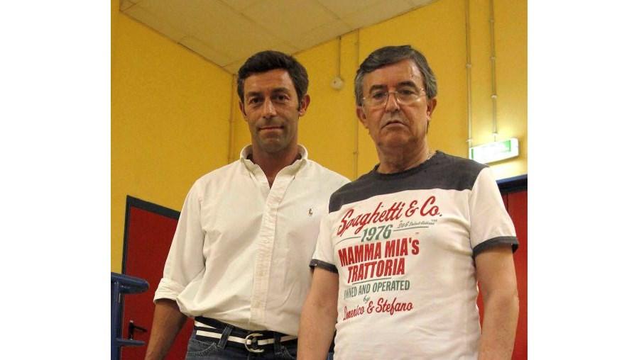 Caixinha (esq) e João Bartolomeu