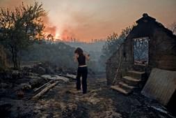Imensa paisagem queimada em Abiúl, Pombal