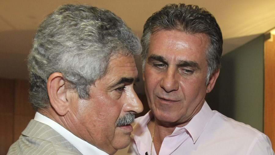 Luís Filipe Vieira cumprimenta Carlos Queiroz