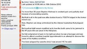 Britânico livra-se de dor de ouvidos após 33 anos