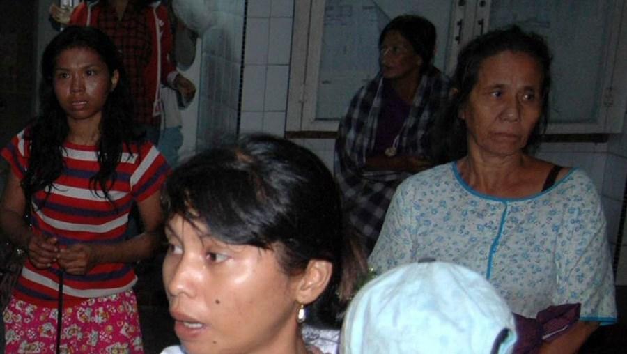 Família afectada pelo tsunami