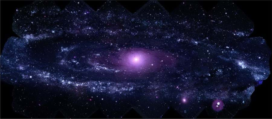 A Agência Espacial Norte-americana, NASA, divulgou a melhor imagem até hoje obtida da galáxia Andrómeda