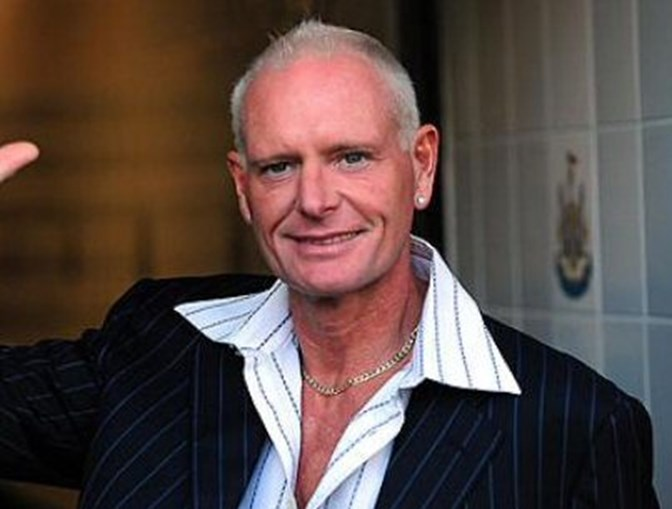O antigo futebolista Paul Gascoigne