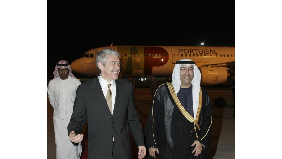 Sócrates à chegada aos Emirados Árabes Unidos