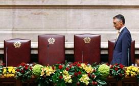 Cavaco Silva chega à tribunal presidencial da Assembleia da República para dar oficial à cerimónia de tomada de posse.