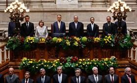 Após prestar juramento, ouviu-se o hino 'A Portuguesa' na Assembleia da República.