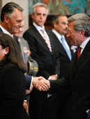 O ex-candidato presidencial Fernando Nobre marcou presença na cerimónia de tomada de posse.