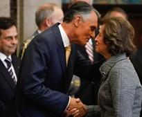 Uma das mais antigas aliadas de Cavaco Silva, Manuela Ferreira Leite, apresentou cumprimentos.