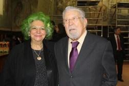 Ao lado de Maria José Valério, com quem partilhava a paixão pelo Sporting