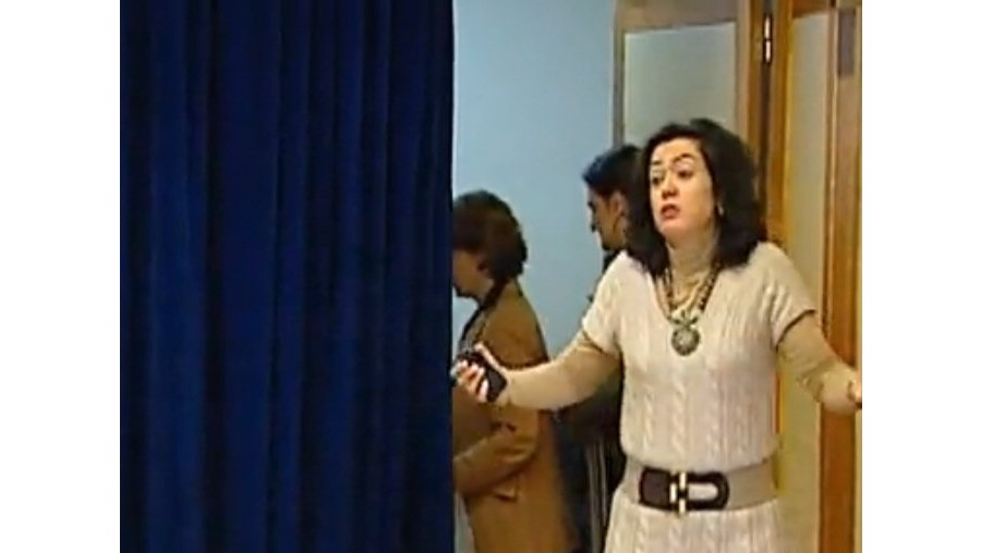 Alçada aceitou a interrupção da assessora e virou costas aos jornalistas