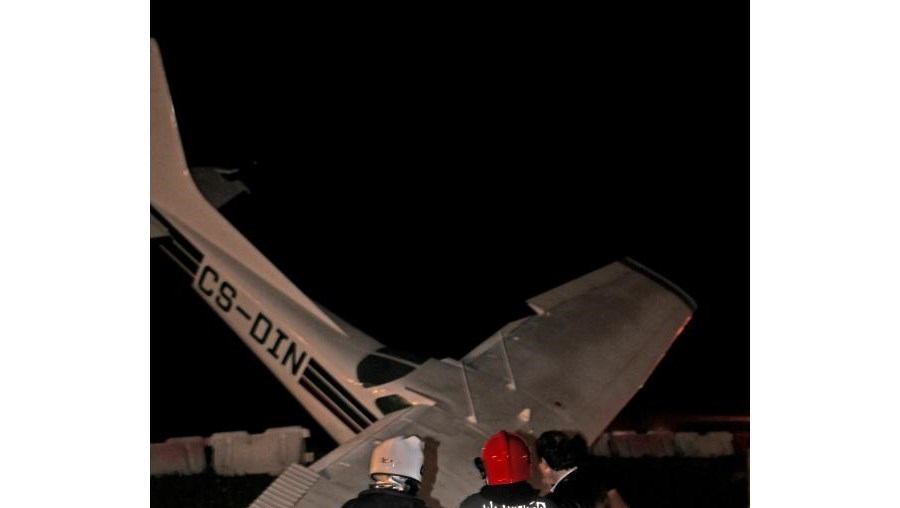 Aeronave ficou danificada