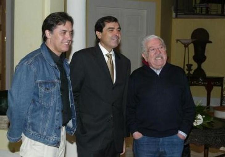 Ao lado de José Eduardo Moniz e Virgílio Castelo