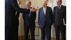 Cavaco, Eanes, Soares e Sampaio juntos no 25 de Abril