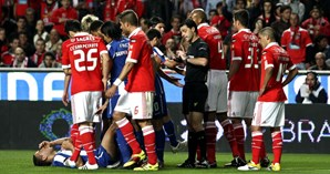 Picardias entre os jogadores das duas equipas foram uma constante ao longo do encontro